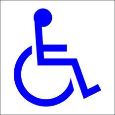 """Handicap Symbol - 6"""" x 6"""" Decal - 6 Pack"""