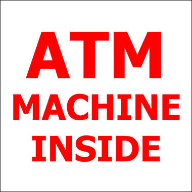 "ATM Machine Inside - 6"" x 6"" Decal"