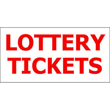 "Lottery Tickets - 6"" x 3"" Die Cut Decal"