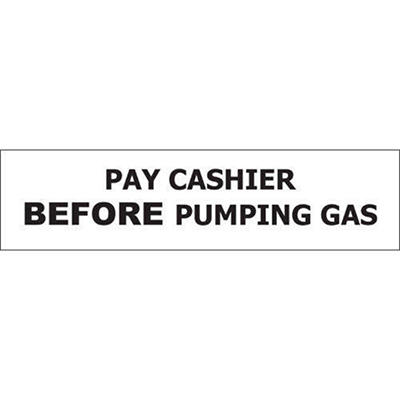 "Pay Cashier Before… - 8"" x 2"" Decal - 6 Pack"