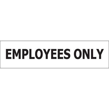 "Employees Only - 8"" x 2"" Decal - 6 Pack"