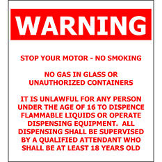 "General Warning - 4 1/2"" x 5"" Decal - 6 Pack"
