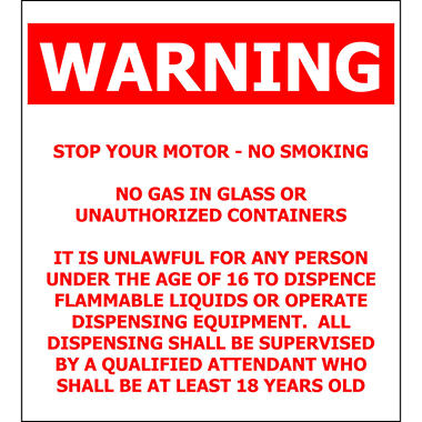 "General Warning - 4 1/2"" x 5"" Decal"