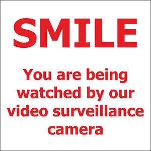 "T3 - Smile/ Surveillance - 6"" x 6"" Decal - 6 Pack"