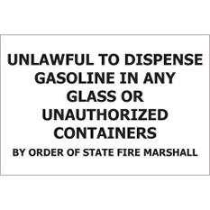 """Unlawful to Dispense - 12"""" x 8"""" Decal - 6 Pack"""