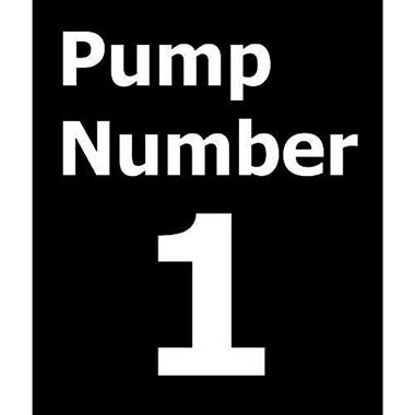 Pump # Decals - 6 Pack