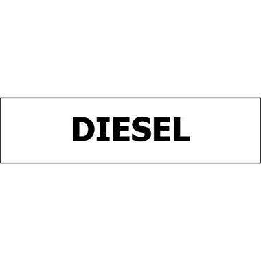 Pump ID Decal - Diesel - Black - 6 Pack