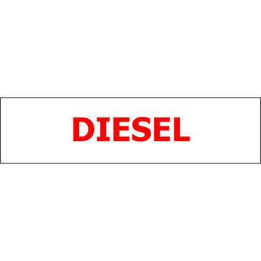 Pump ID Decal - Diesel - Red - 6 Pack