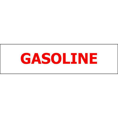 Pump ID Decal - Gasoline - Red - 6 Pack