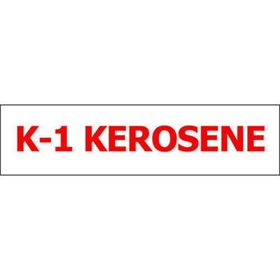 Pump ID Decal - K-1 Kerosene - Red - 6 Pack
