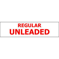 T3 - Pump ID Decal - Regular Unleaded - Red - 6 Pack