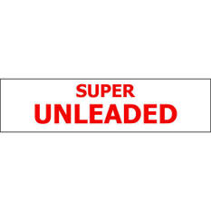 Pump ID Decal - Super Unleaded - Red - 6 Pack