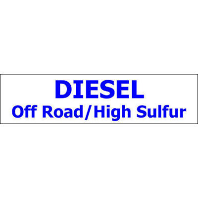 Pump ID Decal - Diesel Off Road/High Sulfur-Blue O - 6 Pack