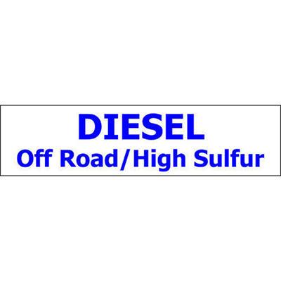 Pump ID Decal - Diesel Off Road/High Sulfur-Blue O - 6 Pack