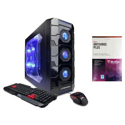CyberPower Gamer Aqua GLC2280 Desktop Computer, Intel Core i7-4790K, 8GB Memory, 1TB Hard Drive with McAfee Anti-Virus Plus