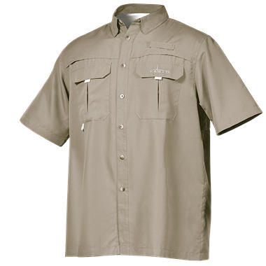 Men 39 s short sleeve vented river shirt by habit assorted for Men s fishing apparel