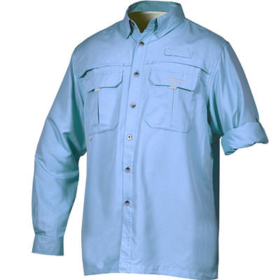Men's Long Sleeve Vented River Shirt by Habit (Assorted Colors)