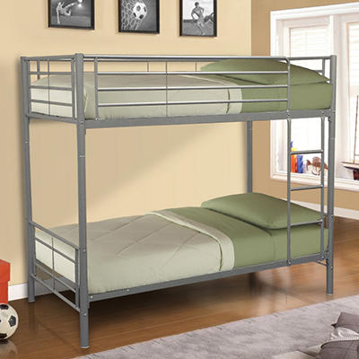 Innovex Polaris Twin-over-Twin Bunk Bed, Silver
