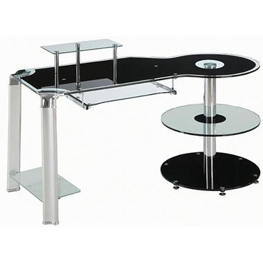 Innovex Fusion Glass Desk - Black