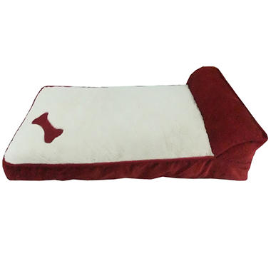 Cozy Craft Deluxe Pet Cozy Lounger - Burgundy