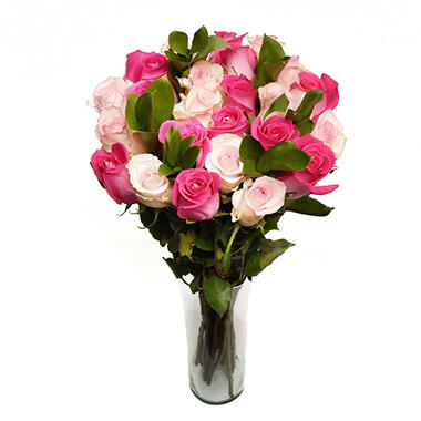 Forever Pink Rose Bouquet (24 stems)