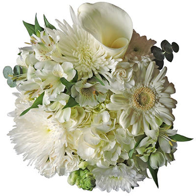 Simply White Mixed Bouquet - 8 pk.