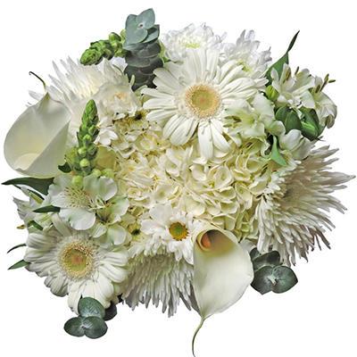 Simply White Mixed Bouquet - 4 pk.