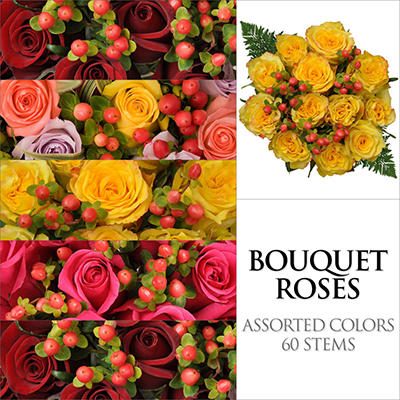 Rose Bouquets - Assorted - 5 pk.