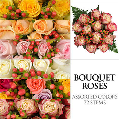 Rose Bouquets - Assorted - 6pk.