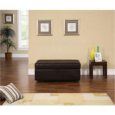 Serta Cornelle Ottoman with Pullout Sleeper- Java