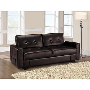 Serta Gaston Casual Convertible Sofa - Brown