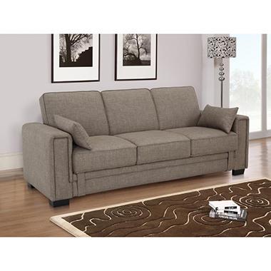 Serta Houston Casual Convertible Sofa - Khaki