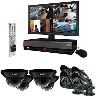 REVO 16 Channel Security System with 8 High-Resolution 700TVL Cameras, 100' Night Vision, 2TB Hard drive, and 21.5