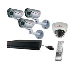 REVO 8 Channel HD Security System with 2TB Hard Drive, 3 2MP Bullet Cameras, 1 2MP Dome Camera, and 120' Night Vision