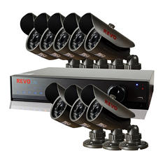 REVO 8 Channel 960H Security System with 500GB Hard Drive, 8 High-Res 700TVL Cameras, and 80' Night Vision