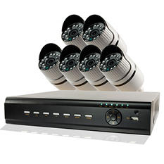 REVO 8 Channel 1080p Security System with 1TB Hard Drive, 6 MP Bullet Cameras, and 100' Night Vision