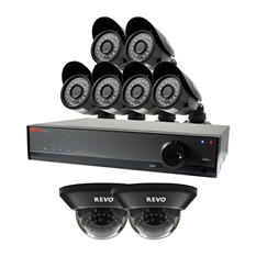 REVO 16 Channel 960H Security System with 1TB Hard Drive, 6 900TVL Bullet Cameras, 2 900TVL Dome Cameras, and 100' Night Vision