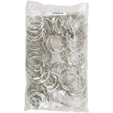 "Chrome Book Ring 1.5"" 100/Bag"