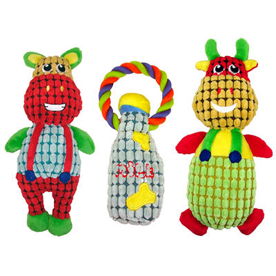 Mugsy's Plush Dog Toys, Farm Animals (3 pk.)