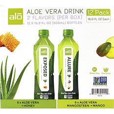 ALO Aloe Vera Drink Variety Pack (16.9 oz. bottles, 12 pk.)