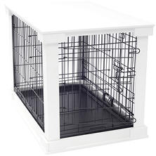 Cage with Crate Cover, White, Medium