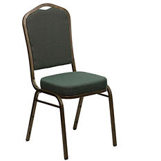 Flash Furniture Fabric Crown Back Banquet Chair Green