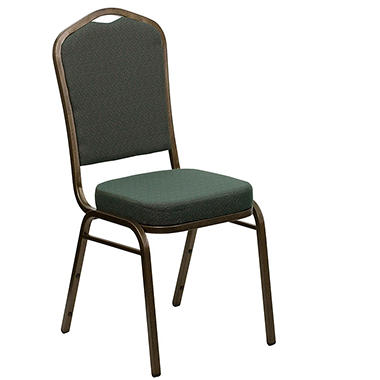 Flash Furniture - Fabric Crown Back Banquet Chair - Green