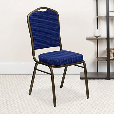 Flash Furniture Fabric Crown Back Banquet Chair Navy