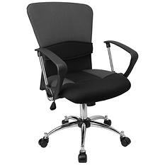 Flash Furniture Mid-Back Mesh Office Chair Gray