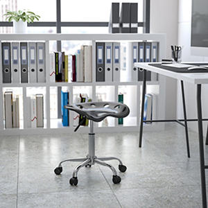 Flash Furniture Tractor Seat Stool - Black