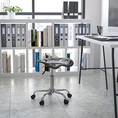 Flash Furniture - Tractor Seat Stool - Black