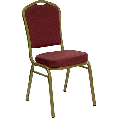 Burgundy Crown Back Banquet Chair - 10 Pack