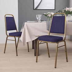 Flash Furniture Fabric Banquet Chair Navy Blue