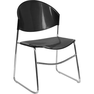 Shell Stack Chair, Black - 10 Pack